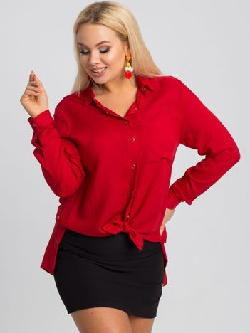 Czerwona koszula plus size Jordi RUE PARIS
