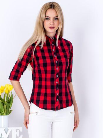 Czerwona koszula we wzór kraty