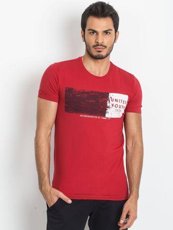 Czerwona męska koszulka TOMMY LIFE