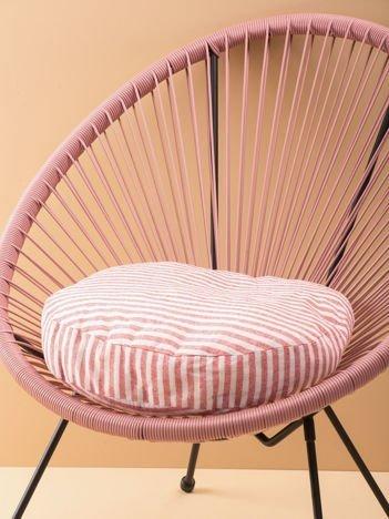 Czerwona poduszka w paski