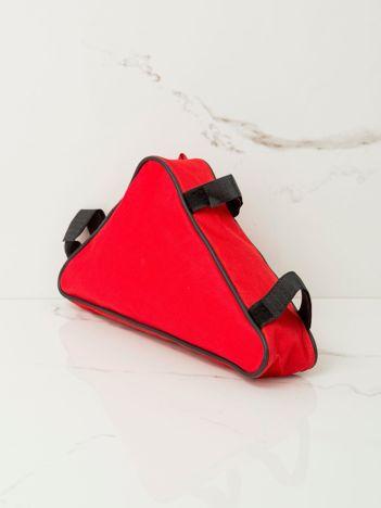 Czerwona saszetka na rower