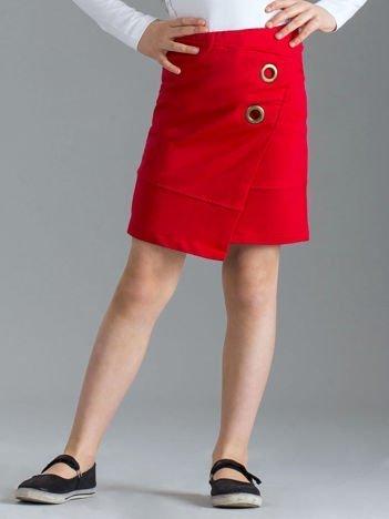 Czerwona spódnica dziewczęca ołówkowa