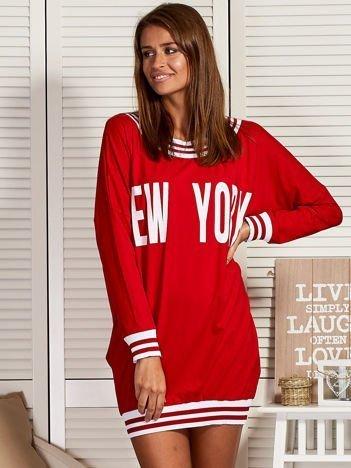 Czerwona sukienka NEW YORK