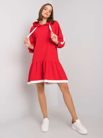 Czerwona sukienka dresowa Georgetta