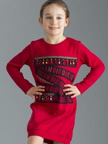 Czerwona sukienka dziewczęca w stylu boho