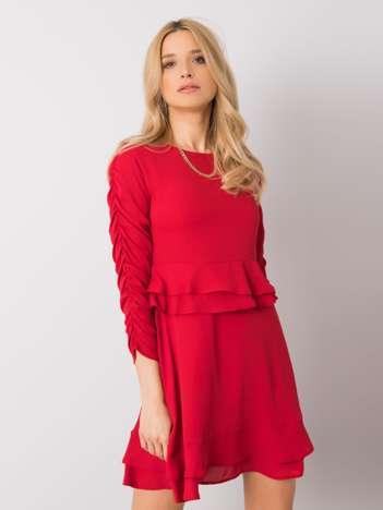 Czerwona sukienka koktajlowa Camilla RUE PARIS