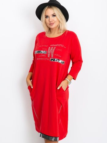 Czerwona sukienka plus size Coast