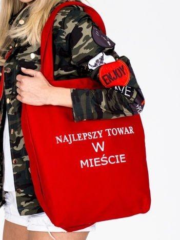 Czerwona torba bawełniana NAJLEPSZY TOWAR W MIEŚCIE