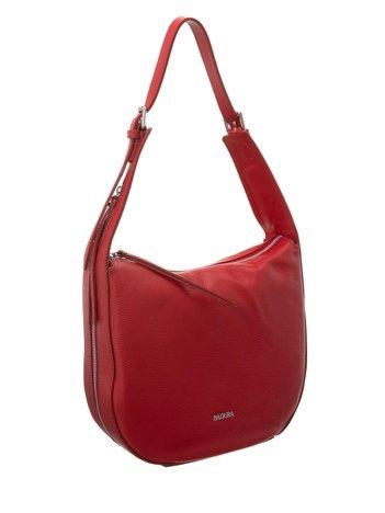 Czerwona torba na ramię ze skóry BADURA