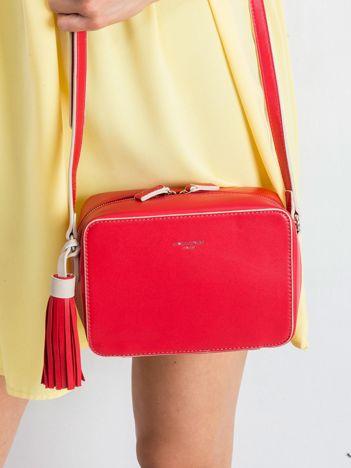 Czerwona torebka z ekoskóry z chwostem