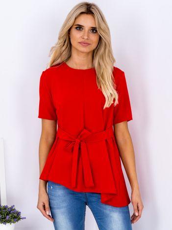 Czerwona tunika o pudełkowym kroju