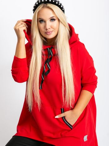 Czerwona tunika plus size Precious