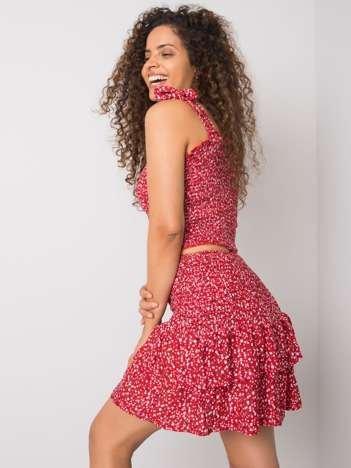 Czerwona wzorzysta spódnica Kaelie RUE PARIS