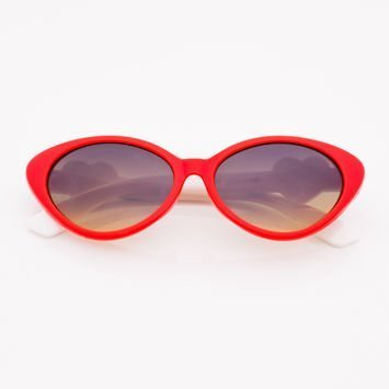 Czerwone Dziecięce Okulary przeciwsłoneczne