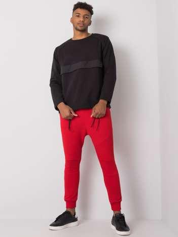 Czerwone dresowe joggery męskie Jax
