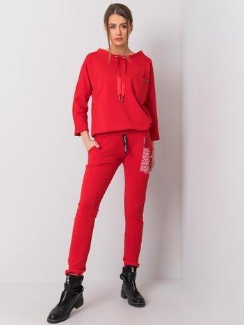 Czerwone spodnie dresowe Taylor