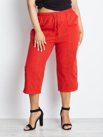 Czerwone spodnie plus size Contraction