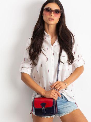 Czerwono-granatowa damska torebka