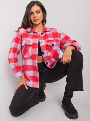 Czerwono-liliowa koszula w kratę Melany