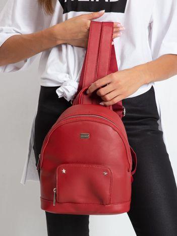 Czerwony damski plecak z ekoskóry
