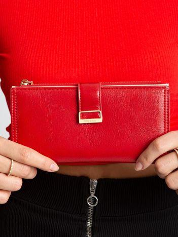 Czerwony portfel damski z eko skóry