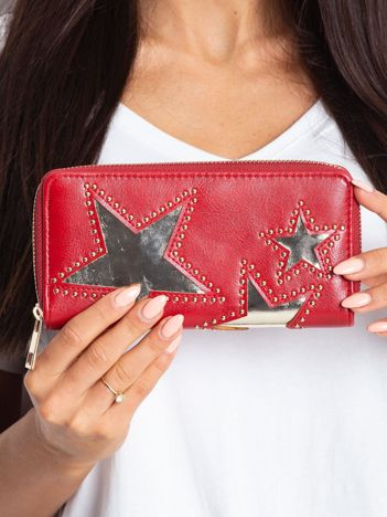 Czerwony portfel z aplikacją