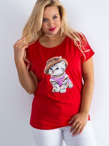 Czerwony t-shirt Glory PLUS SIZE
