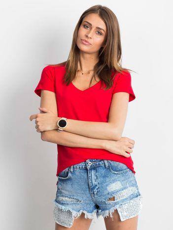 Czerwony t-shirt Square