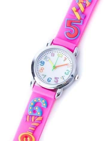DIGIT Różowy Dziecięcy Zegarek Cyferki