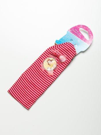 DISNEY PRINCESS Opaska do włosów z aplikacją Czerwona w różowe paski