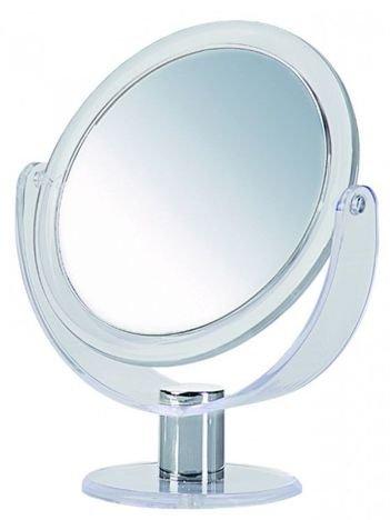 DONEGAL Dwustronne lusterko kosmetyczne Powiększenie x 5 stojące obrotowe (4537)