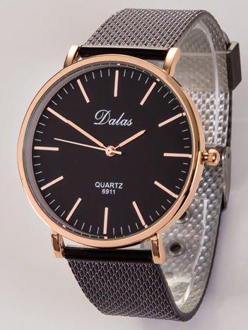 Dalas  czerwone złoto damski zegarek na bransolecie mesh