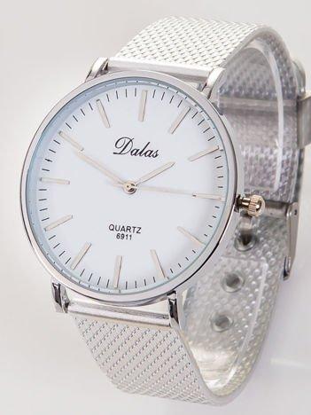 Dalas srebrny damski zegarek na bransolecie mesh