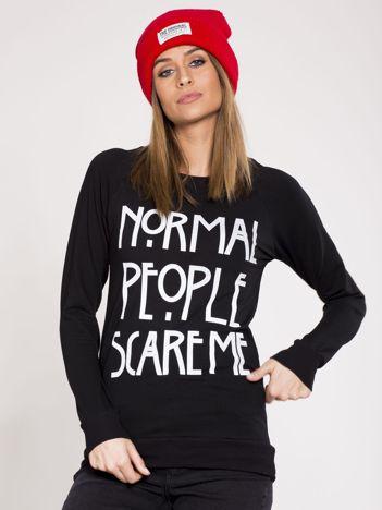Damska bluza dresowa z napisem czarna
