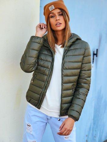 Damska kurtka pikowana khaki