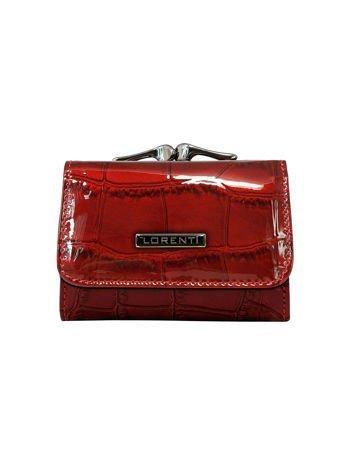 Damski czerwony portfel skórzany
