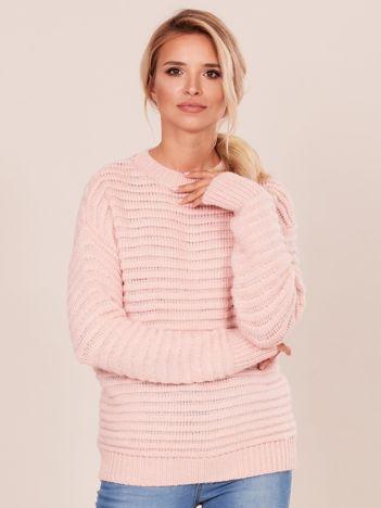 Damski jasnoróżowy sweter damski