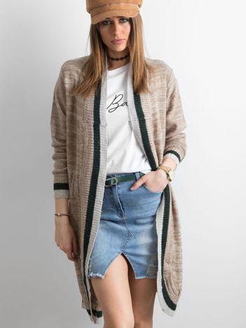 Damski sweter z dzianiny beżowy