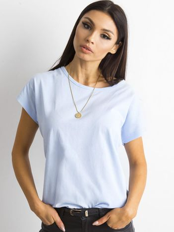 Damski t-shirt niebieski