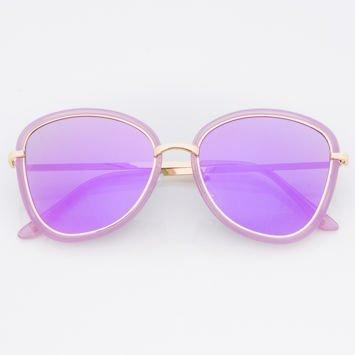 Damskie Okulary Słoneczne Fioletowe Lustrzanki
