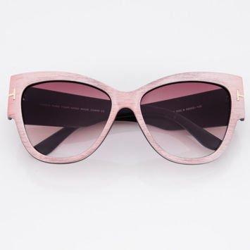 Damskie Okulary Słoneczne Metaliczny Jasny Róż
