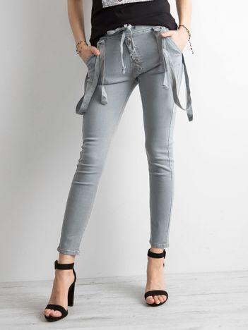 Damskie spodnie jeansowe szare