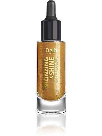 Delia Cosmetics BRONZING & SHINE DRY OIL SHAPE DEFINED Suchy, ZŁOTY olejek do twarzy i ciała 20ml