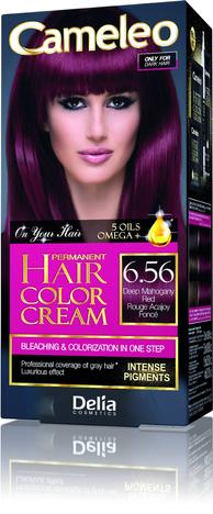 """Delia Cosmetics Cameleo HCC Farba permanentna Omega+ nr 6.56 Deep Mahogany Red  1op."""""""