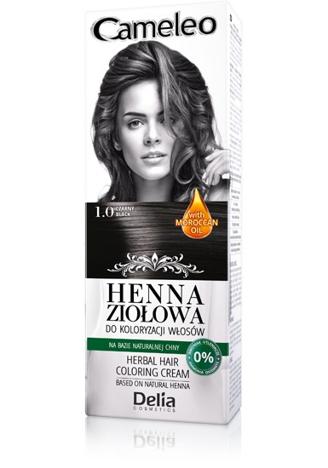 Delia Cosmetics Cameleo Henna Ziołowa nr 1.0 czarny 75g
