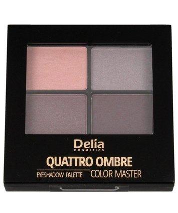 "Delia Cosmetics Color Master Cienie do powiek Quattro Ombre nr 402 Tasty Plum 1szt"""