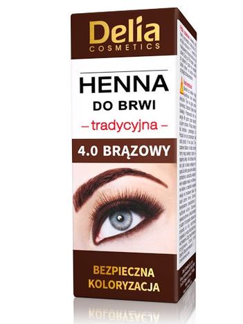 Delia Cosmetics Henna do brwi tradycyjna 4.0 brązowa