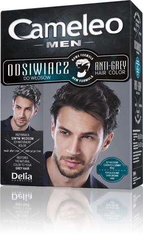 Delia Cosmetics Odsiwiacz dla mężczyzn do włosów czarnych i ciemny brąz CAMELEO MEN 6g