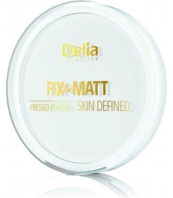 """Delia Cosmetics Skin Defined Puder prasowany Fix & Matt  9g"""""""