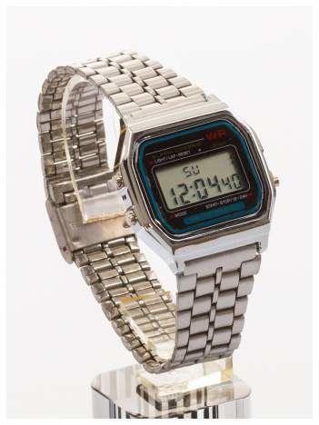 Delikatny damski zegarek na srebrnej bransolecie